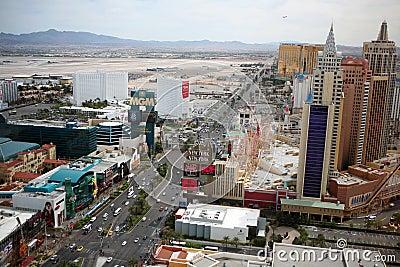 Las Vegas Strip at daytime Editorial Photo