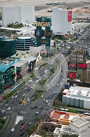Las Vegas Strip at daytime Editorial Stock Photo
