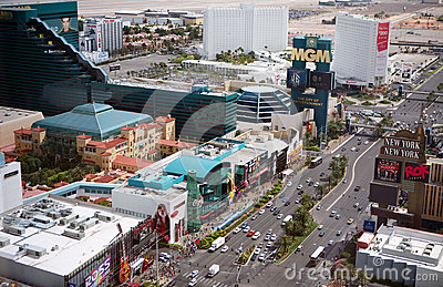 Las Vegas Strip at daytime Editorial Photo