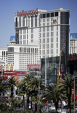 Las Vegas Strip at daytime, vertical Editorial Image