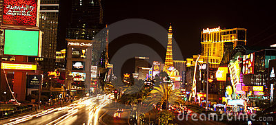Las Vegas Strip at night Editorial Image