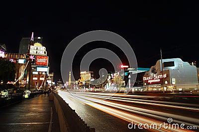 Las Vegas Strip at Night Editorial Photography