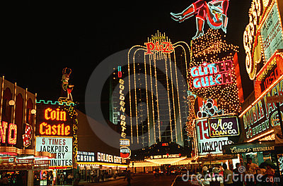 Las Vegas Strip at night Editorial Photo