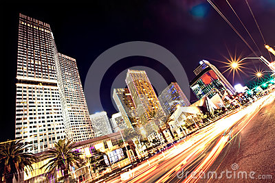 The Las Vegas Strip at night Editorial Stock Photo