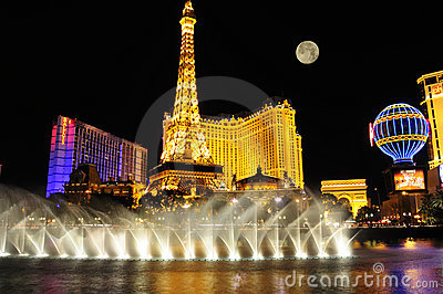 Las Vegas Strip at night Editorial Photography
