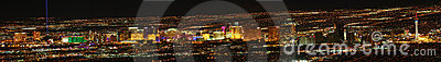 Las Vegas Strip Panoramic Editorial Photo