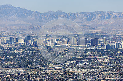 Las Vegas Strip and Red Rock Canyon National Conservation Area Editorial Image