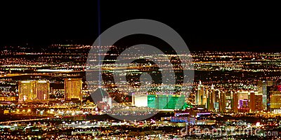 Las Vegas Strip South End Editorial Stock Image