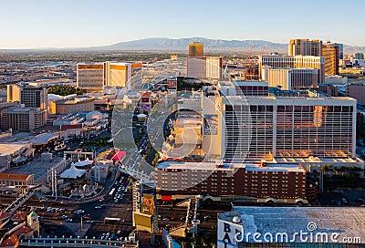 Las Vegas at sunset Editorial Photography