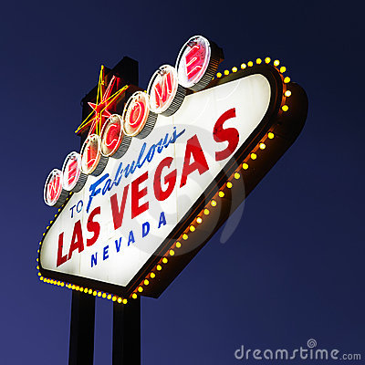 Free Las Vegas Welcome Sign. Royalty Free Stock Photos - 3284108