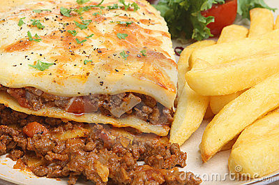 Lasagna & Chips