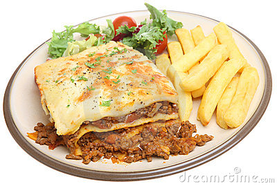 Lasagna and Chips