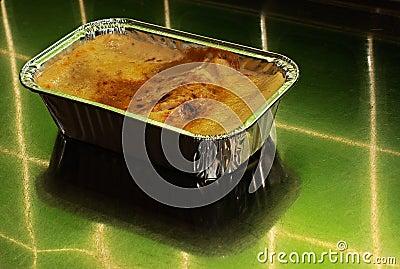 Lasagna in foil container