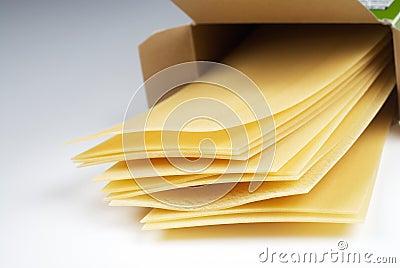 Lasagna pasta in box