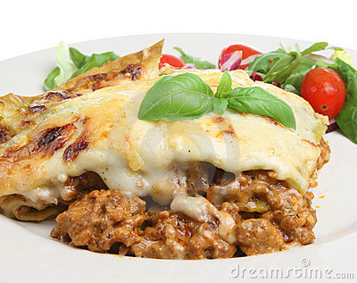 Lasagna Verdi with Salad