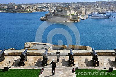 Lascaris Battery of Valletta, Malta