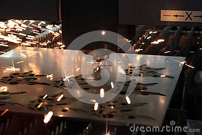 Laser Cutting Metal Royalty Free Stock Photo - Image: 25123545
