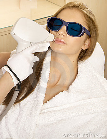Free Laser Hair Removal In Professional Studio. Royalty Free Stock Photos - 20422978