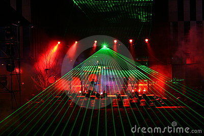 Laser show Editorial Stock Photo