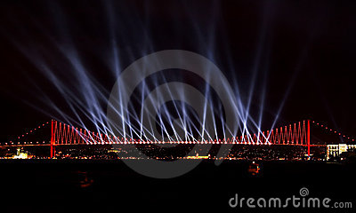 Laser show at Bosporus, Istanbul