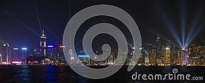 Laser show in Hong Kong