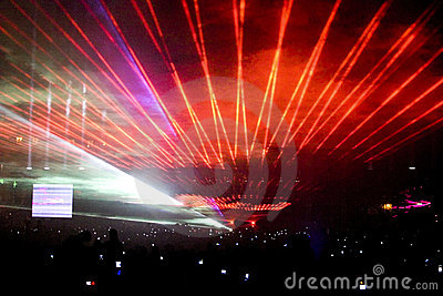 Laser show party