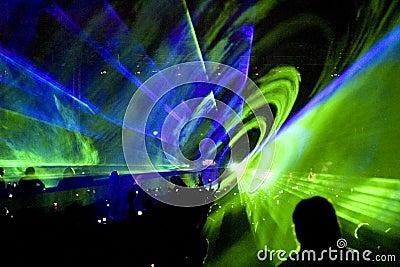 Laser show rave party