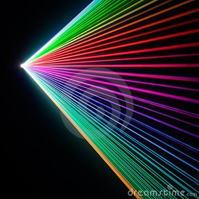 Laser show refraction