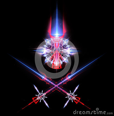 Laser swords and emblem