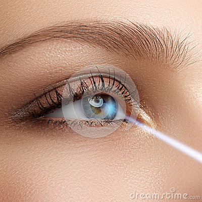 Free Laser Vision Correction. Woman S Eye. Human Eye. Woman Eye With Royalty Free Stock Image - 65736566