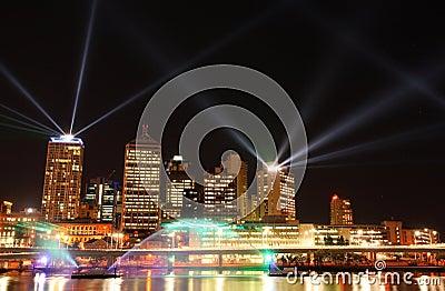Laserowy Brisbane przedstawienie