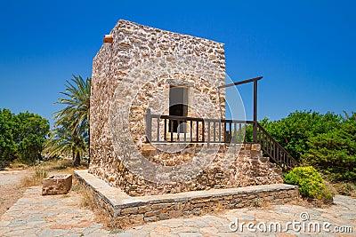 希腊房子在Lasithi高原村庄