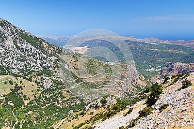 Lasithi mountains on Crete