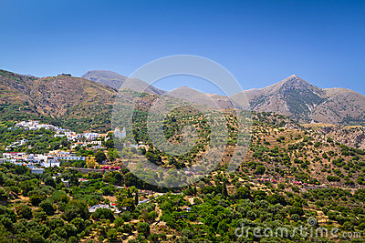 Lasithi mountains on the east of Crete