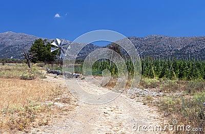 Lasithi plateau at Crete
