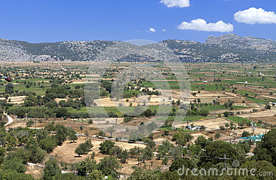 Lasithi plateau at Crete, Greece