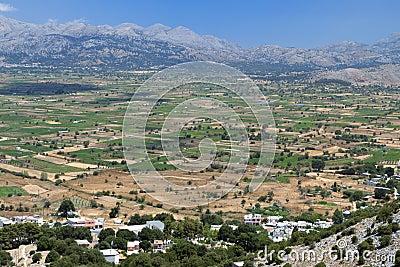 Lasithi plateau at Crete island