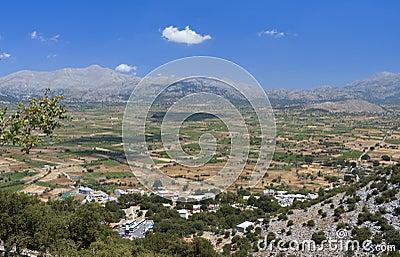 Lasithi plateau at Crete island, Greece