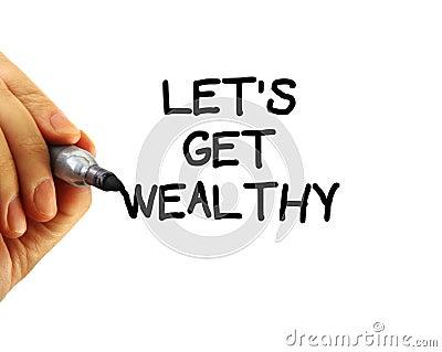 Lassen Sie uns wohlhabend erhalten