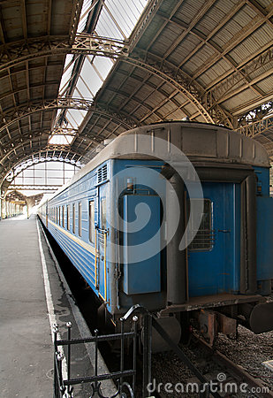 Last of the blue train car standing