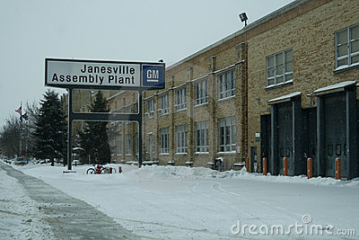 Last Day for GM Plant in Janesville, Wisconsin Editorial Stock Image