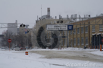 Last Day for GM Plant in Janesville, Wisconsin Editorial Photo