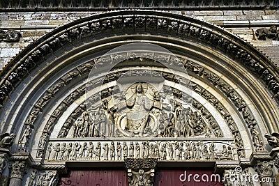 Last judgement in portal of the Abbey la Madaleine