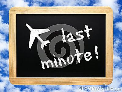 Last Minute chalkboard