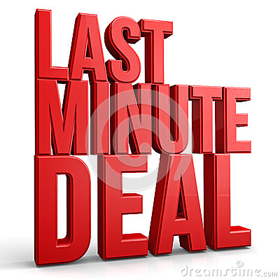 Free Last Minute Deal Royalty Free Stock Image - 44060116
