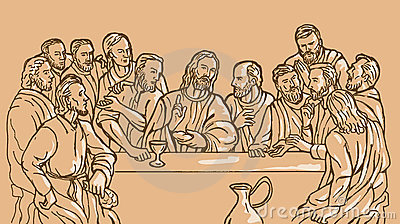 Last supper Jesus Christ  apostle