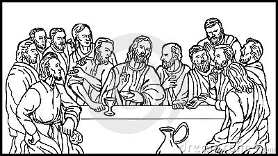 Last supper of Jesus disciples