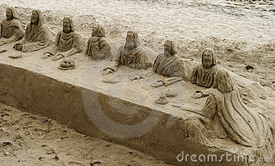 Last Supper In The Sand Editorial Photo