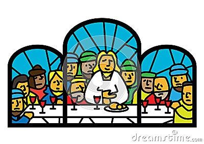 Last supper  window
