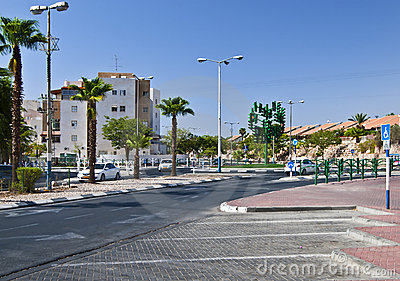 The last traffic lights at Eilat city Editorial Stock Photo